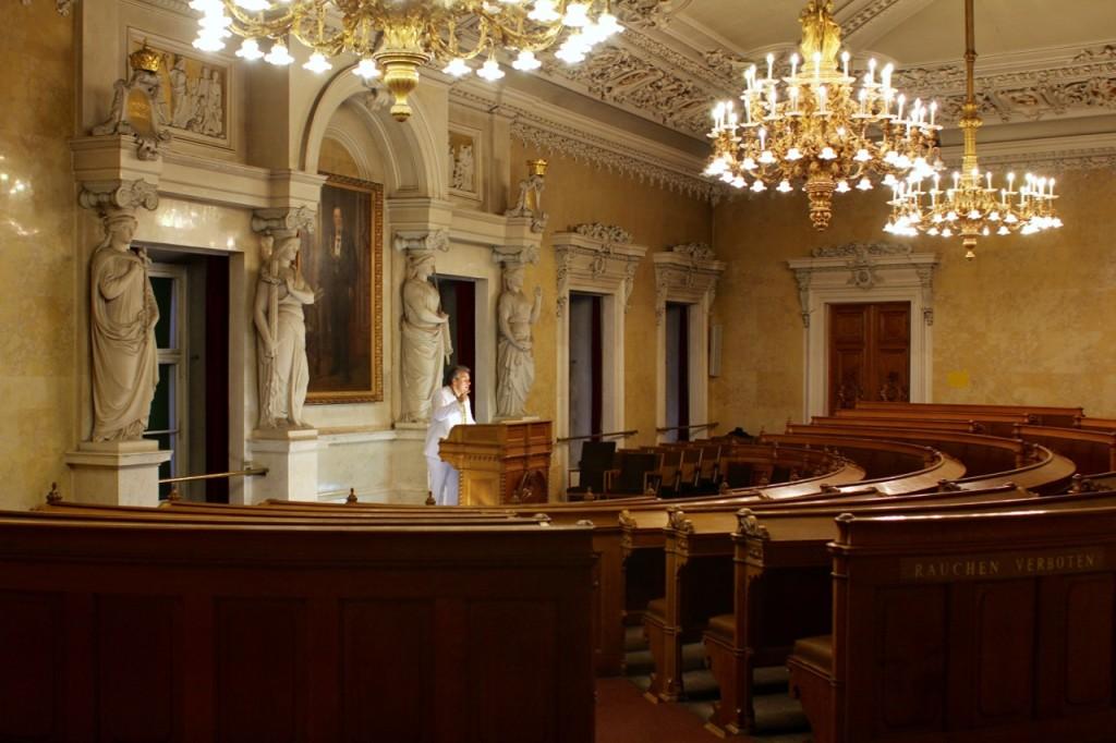"""Der Festsaal des Alten Rathauses ist Austragungsort von """"Reden!"""""""
